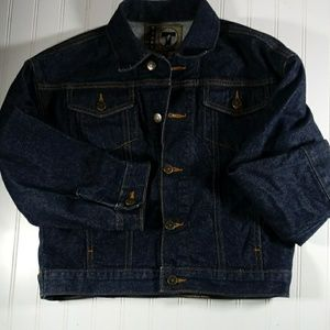 French Toast Girls M Button Front Jean Jacket